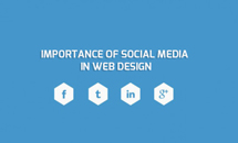 important of social media in website design