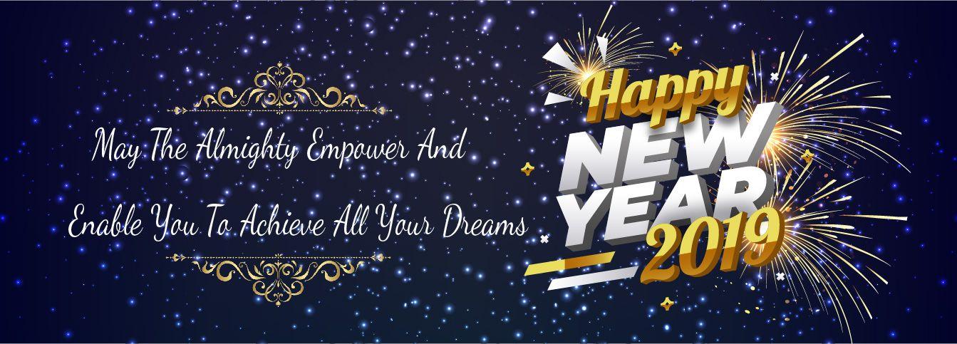Happy New year Wish Go-Designy
