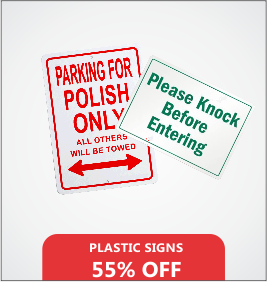 Plastic Signs Designing & Printing Services