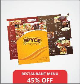 Restaurant Menus Designing & Printing Services