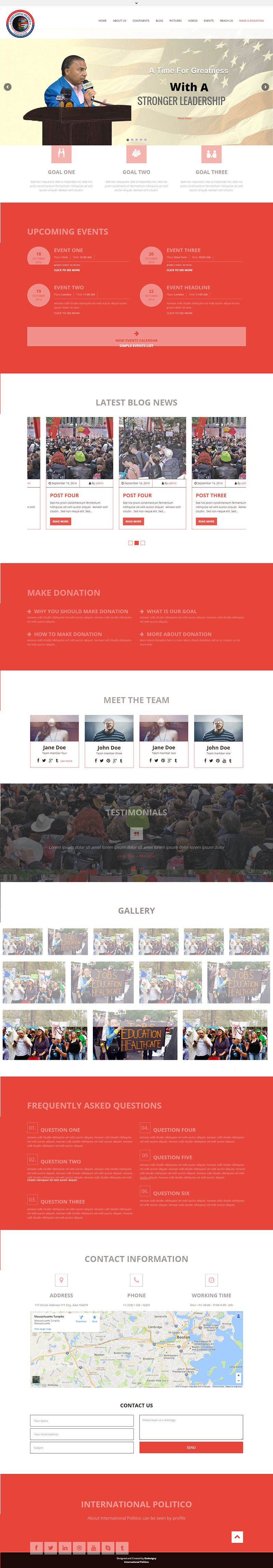 Political Profile Website Design