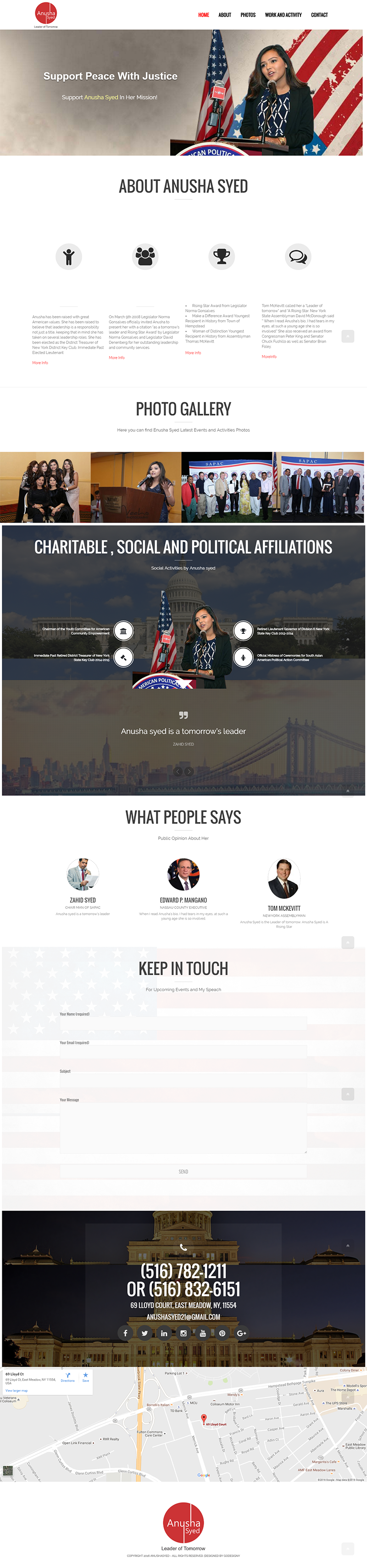 Personal Profile Website Design