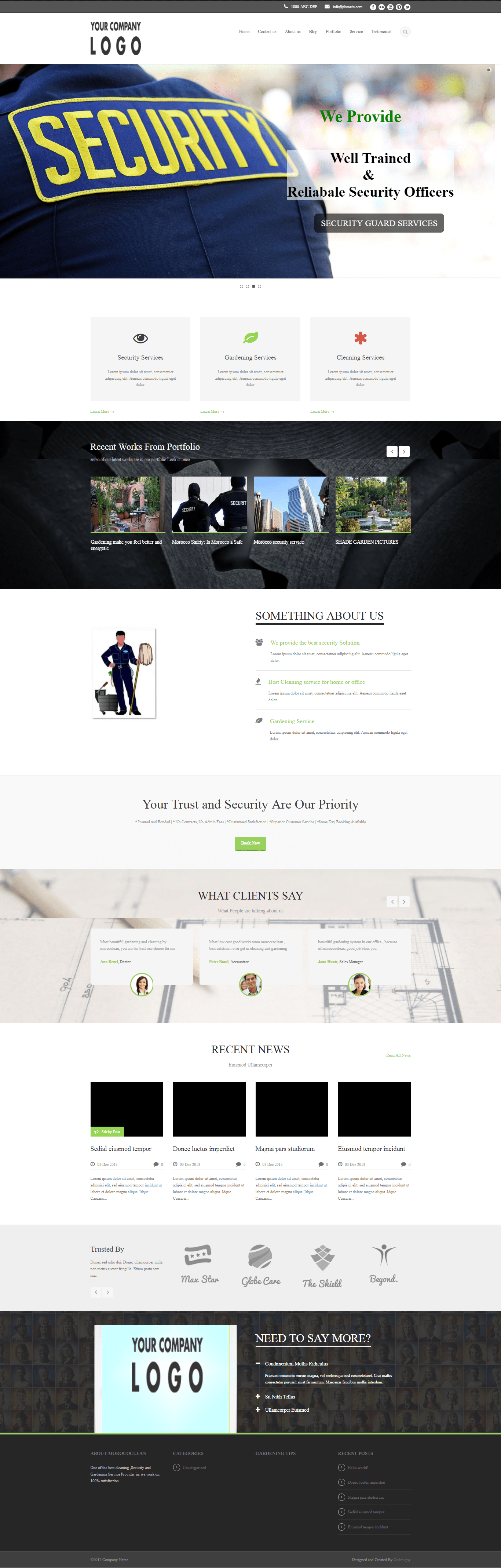 Security & Cleaning Website