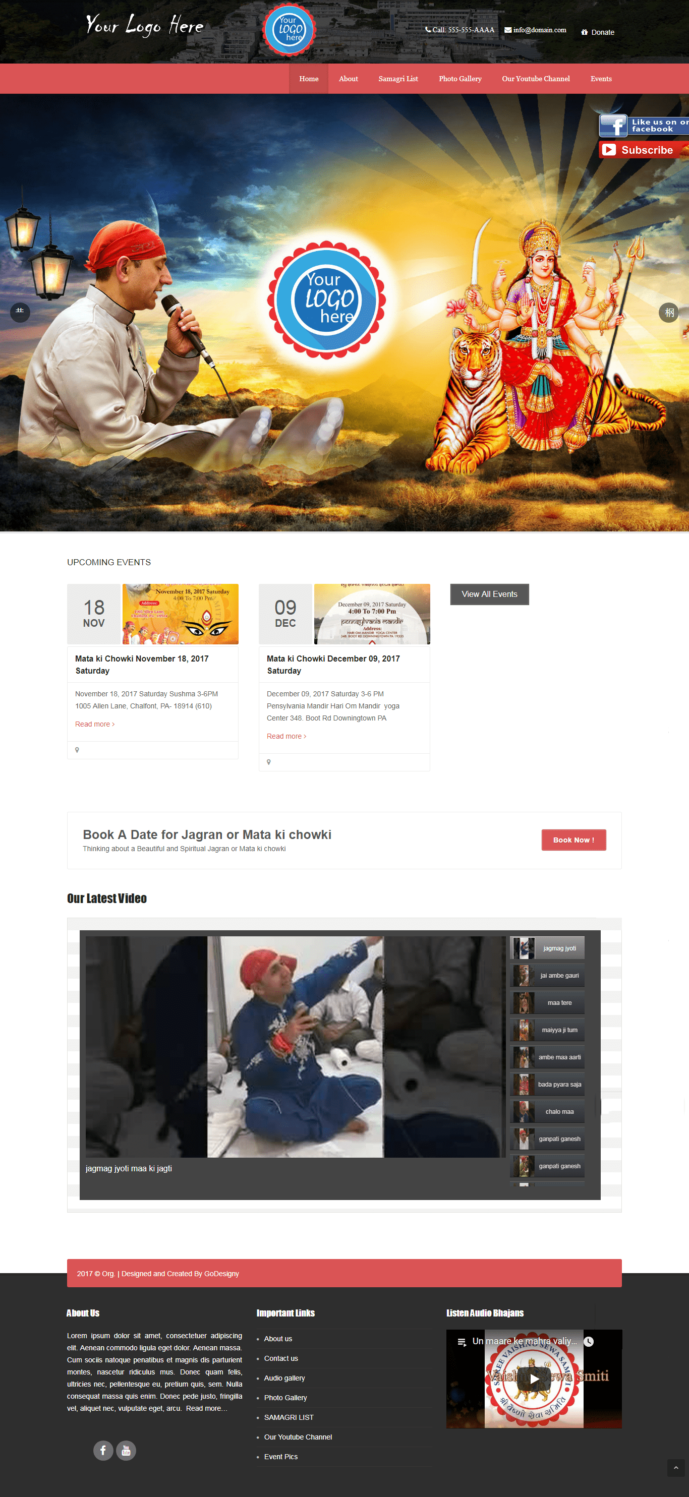 Devotional Website Design